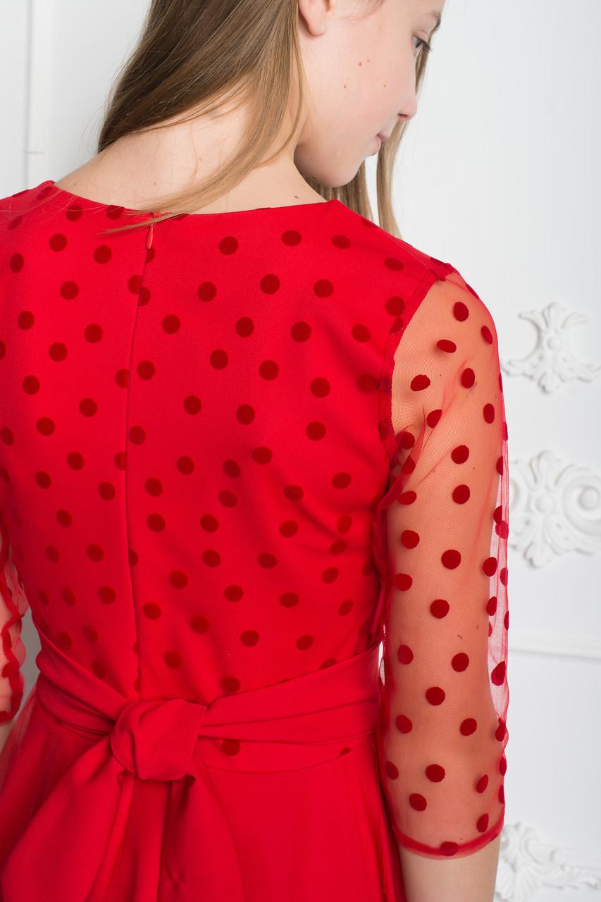 06715a13182 Нарядное красное платье для девочки-подростка 38