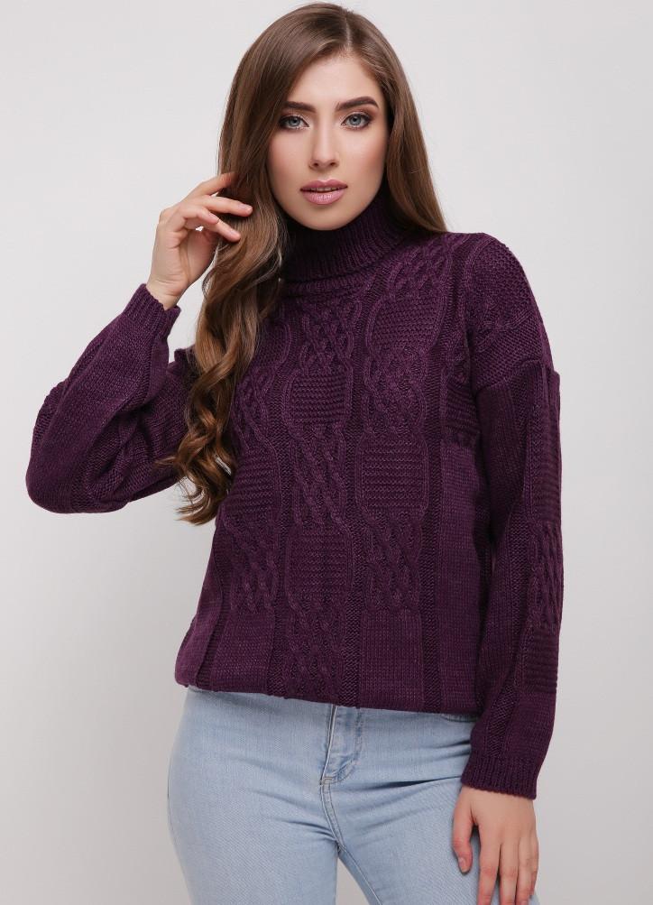 Стильный женский вязаный свитер.Разные цвета