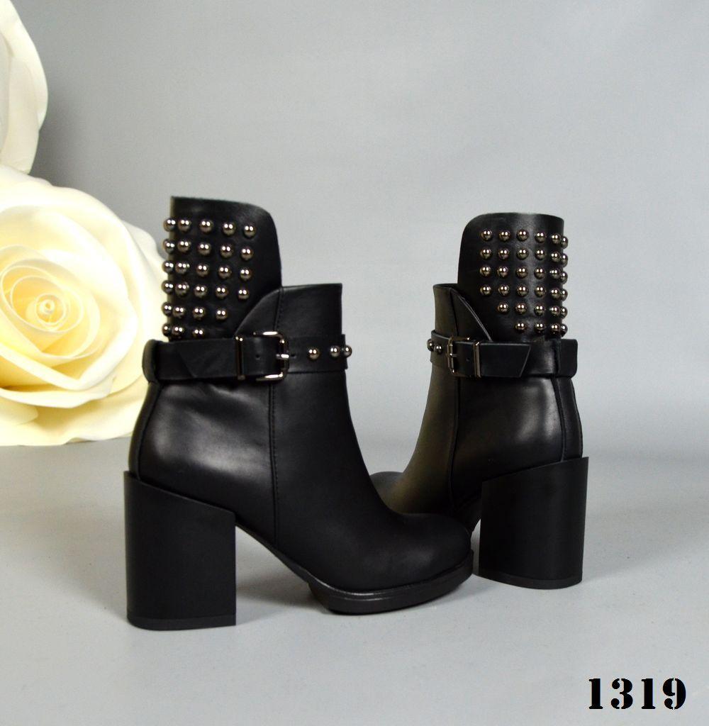 Стильные ботинки на устойчивом каблуке 39,40 р