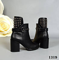 Стильные ботинки на устойчивом каблуке 39,40 р, фото 1
