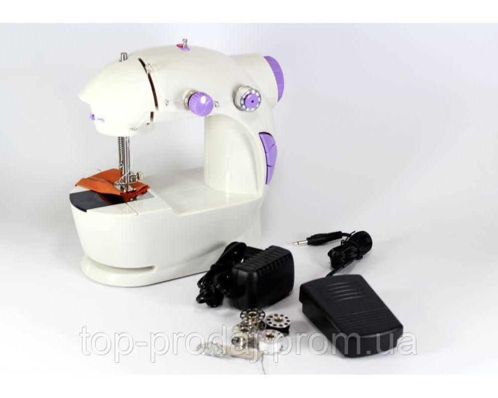 Швейная машинка FHSM 201 с адаптером, Швейная машинка портативная, Мини швейная машинка, Ручная швейная