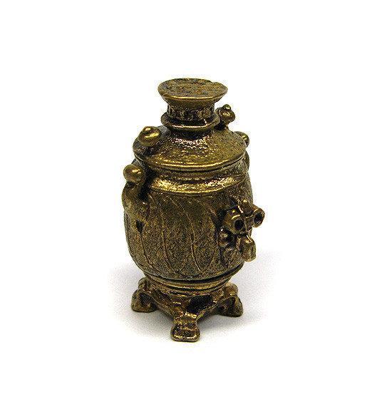 Самовар фигурка мини из бронзы