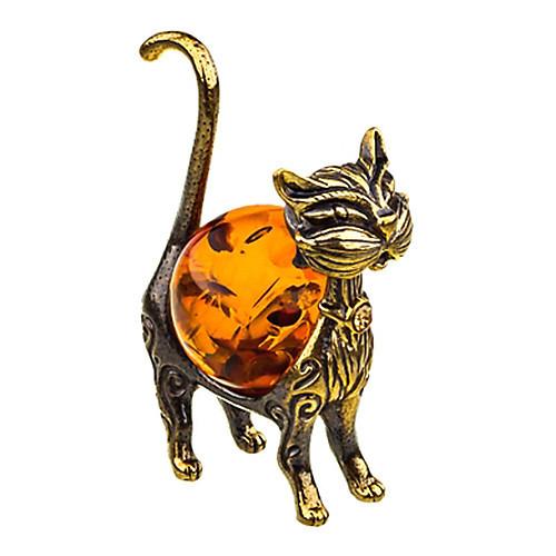 Фигурка на стол Кошка из бронзы