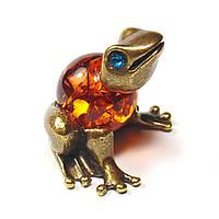 Бронзовая фигурка Лягушка миниатюра