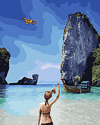 Картина по номерам Остров Пхи-пхи, 40x50 см., Brushme