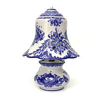 Лампа в стиле Гжель из керамики