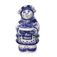 Керамический сувенир гжель Масленица роспись