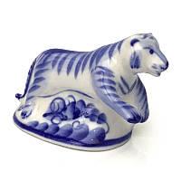 Статуэтка Тигр из керамики гжель