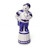 Фигурка из гжели Штрафничок синяя роспись