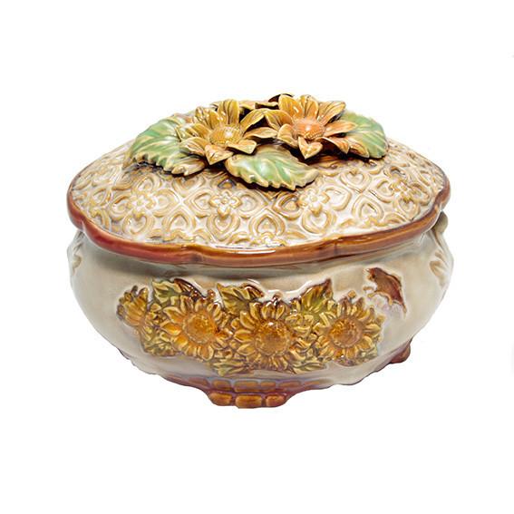 Шкатулка из керамики декоративная