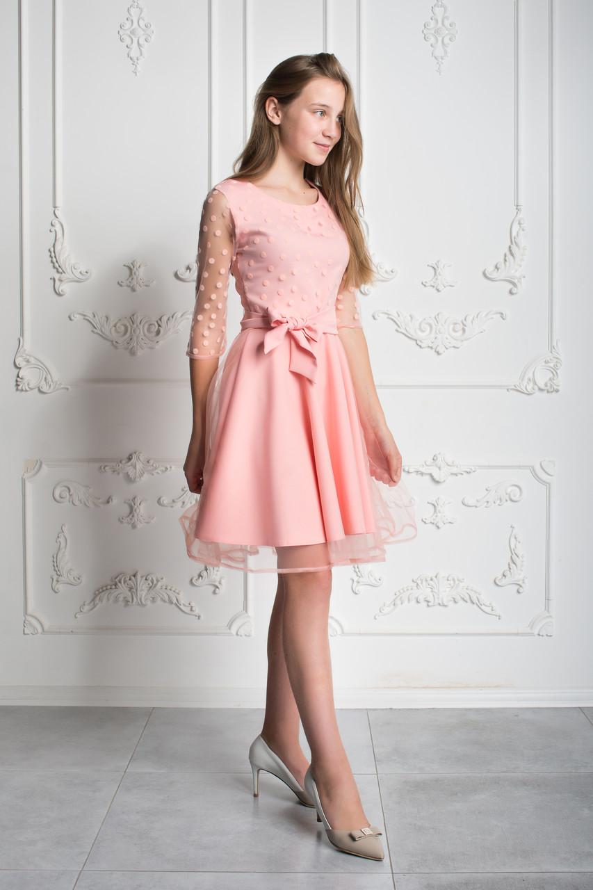 e5cb848073f Нарядное розовое платье для девочки-подростка 38