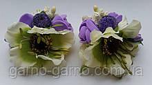 Шпилька для волосся дикий мак з трояндами і ягідками