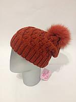 Женская шапка с бубоном