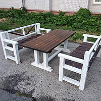 Красивый деревянный комплект, набор мебели для дома, сада