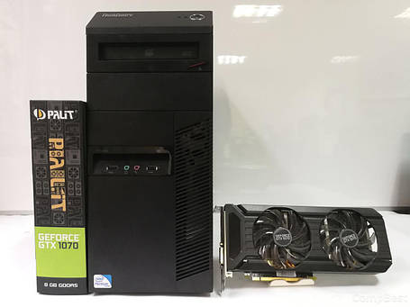 Lenovo M82 Tower/ Intel Core i5-3470 (3.20-3.60GHz, 4 ядра, 6mb Cache)/ 16GB DDR3/ 500GB HDD / SSD 120GB/ 600W Новый/ Видеокарта GF GTX 1070 8Gb DDR5, фото 2