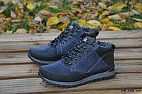 Мужские кожаные зимние кроссовки New balance  (Реплика), фото 1