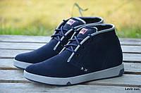 Мужские зимние ботинки Levis (Реплика), фото 1