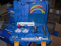 Набор для обработки труб VALUE VTB-5B-1( труборез,808, коллетор R410, шланги ) чемодан