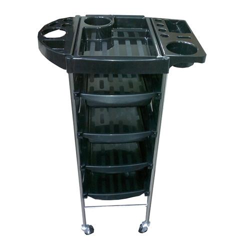 Парикмахерская тележка T-0Q6 (черная)