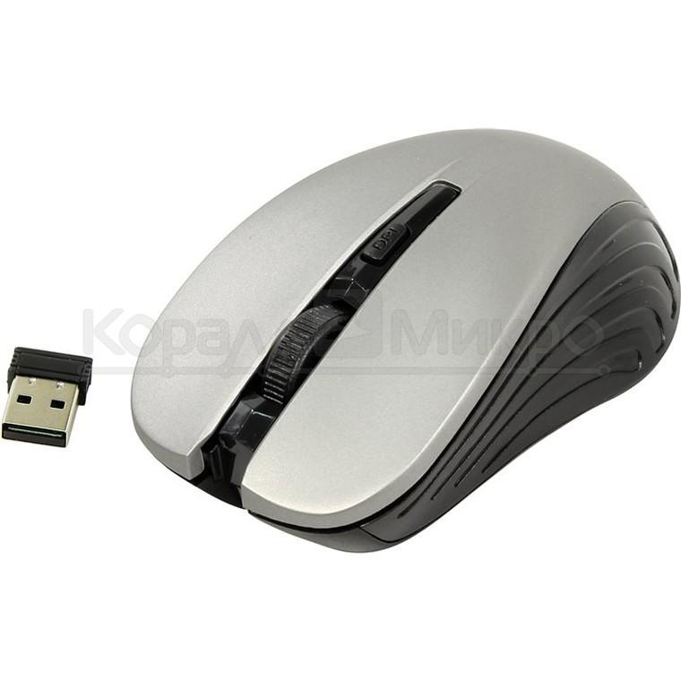 Мышь Oklick 545MW беспроводная, 1600dpi, USB, чёрно-серый