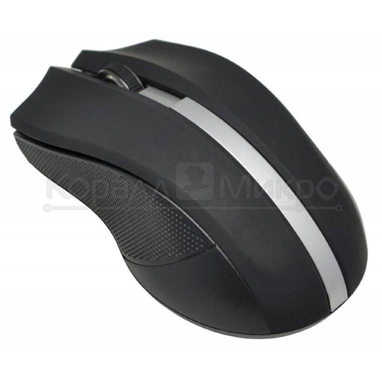 Мышь Oklick 615MW беспроводная, 1200dpi, USB, чёрно-серебристый
