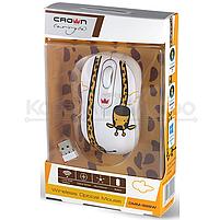 Мышь Crown CMM-928W giraffe беспроводная, 1600dpi, USB, принт жираф, фото 3