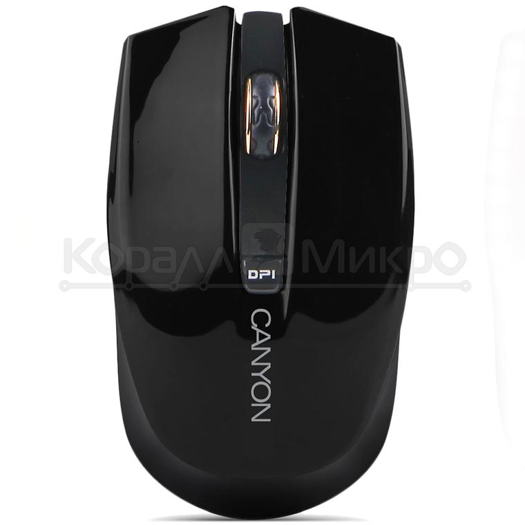 Мышь Canyon CNS-CMSW5B беспроводная, 1280 dpi, USB, чёрный