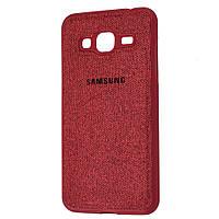 Чехол для Samsung Galaxy J3 2016 (J320) Textile красный
