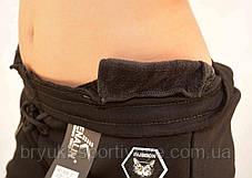 Брюки женские спортивные зимние на меховой подкладке Кошка, фото 2