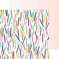 Кардсток двосторонній з голографічним фольгуванням - Hooray - Crate Paper - 30х30