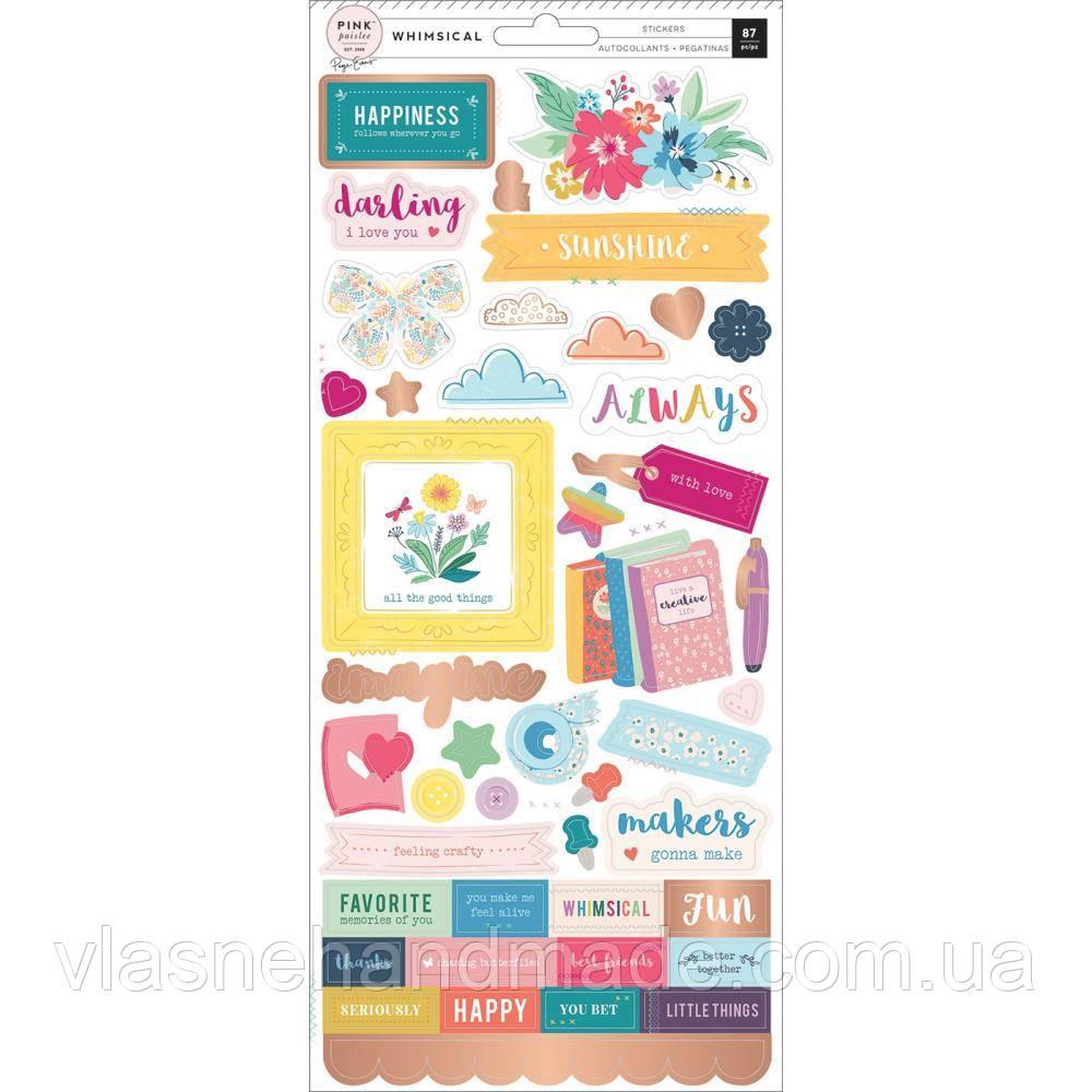 Наклейки - Whimsical - Pink paislee