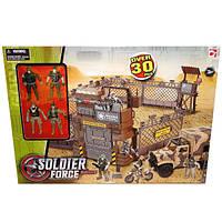 Набор Солдаты 7 (военная база в пустыне с техникой и солдатами) CHAP MEI