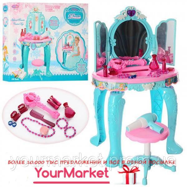 Туалетный столик, стул, зеркало, свет, МР3, имиджисенсор, фен, LM90009