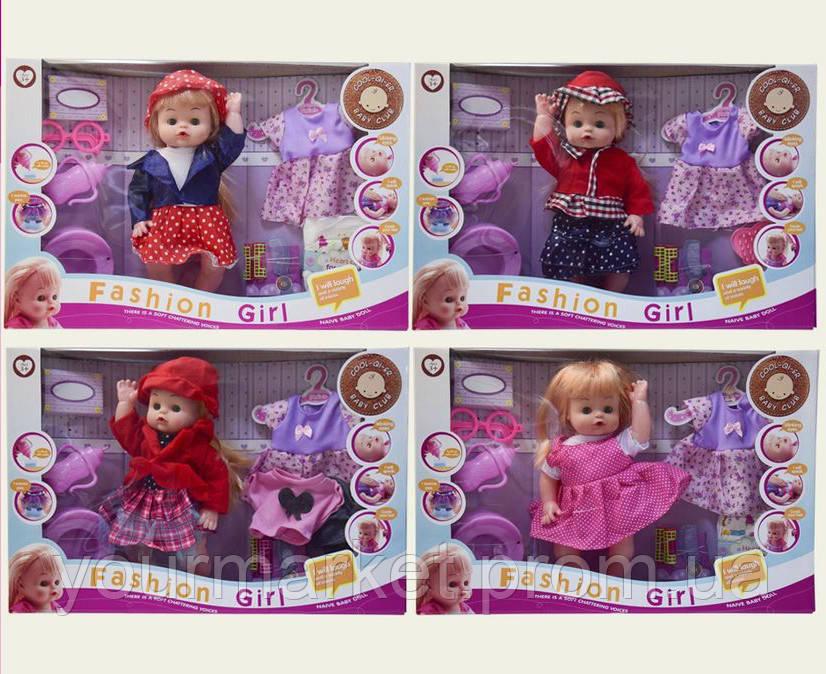 Кукла функц 6626-12/9/20/1/2/3A  6видов,пьет-пис.,горшок,бутыл,аксесс,