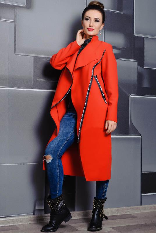 Красное молодежное пальто  -Элисон -