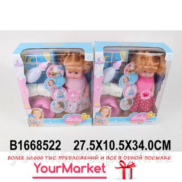 Кукла функц 55-021 (1668522)  2 вида, муз, пьет/пис, бут,горшок,подгуз