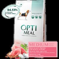 Полнорационный сухой корм Optimeal для взрослых собак средних пород – индейка, 1,5 кг