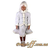 """Детский костюм """"Снегурочка"""", велюр (рост 116, 134)"""