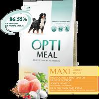 Полнорационный сухой корм Optimeal для взрослых собак крупных пород - курица, 1,5 кг