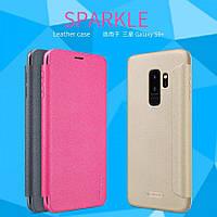 Кожаный чехол (книжка) Nillkin Sparkle Series для Samsung Galaxy S9+
