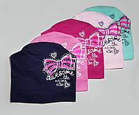"""Демисезонная  шапка для девочек """"Awesome"""", фото 1"""