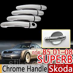 Накладки на ручки  SKODA SUPER B I (2002-2008)