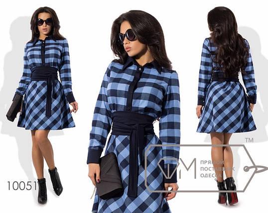 Женское платье, цвет - Синий (138)1728-3. (3 цвета) Размеры: 42, 44, 46. Ткань: котон принт., фото 2