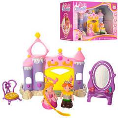 Замок 2015 (24шт) принцессы, фигурки 2шт, трюмо, трон, в кор-ке, 30,5-21-13см