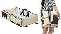 Дорожная Сумка для Мам и Малышей Ganen Baby Bed & Bag Складной Манеж Кроватка