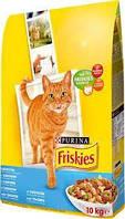 Friskies сухой корм для кошек, с лососем и овощами 10КГ