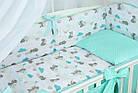 Комплект постельного белья Asik Мама-мишка и мятные облака 8 предметов (8-300), фото 4
