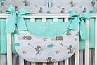 Комплект постельного белья Asik Мама-мишка и мятные облака 8 предметов (8-300), фото 6