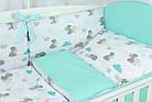Комплект постельного белья Asik Мама-мишка и мятные облака 8 предметов (8-300), фото 3