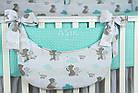 Комплект постельного белья Asik Мама-мишка и мятные облака 8 предметов (8-300), фото 7